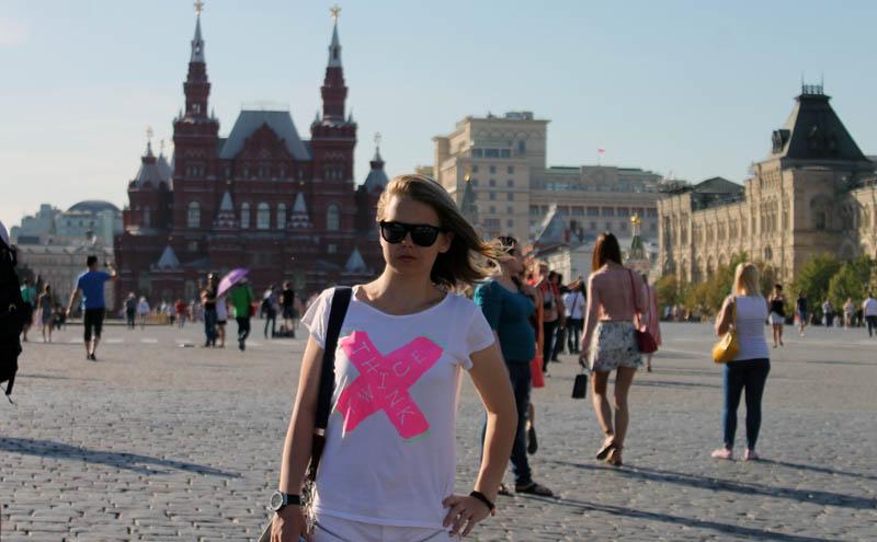 """Удалось побывать и на """"Красной площади"""" в Москве"""